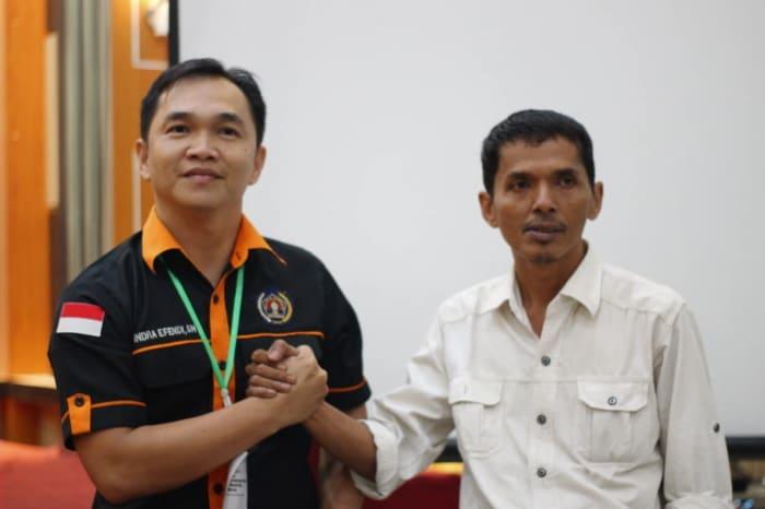 Ketua PWI Inhil Terpilih M Yusuf (Kanan)